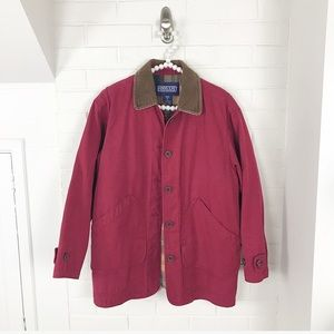 {Lands' End} Popular Red Barn Coat